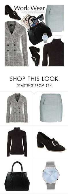 """""""Work Wear"""" by beebeely-look ❤ liked on Polyvore featuring Topshop, Blue Vanilla, Larsson & Jennings, WorkWear, blazer, officewear, officestyle and gamiss"""