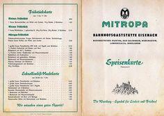 Mitropa menu, 1957