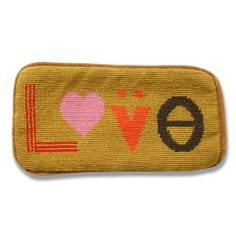 Mod love tan sunglass case, Jonathan Adler at ProjectDecor.com