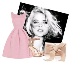 """Розовое платье"" by eseniya-yliss59 ❤ liked on Polyvore featuring Gianvito Rossi and Oscar de la Renta"