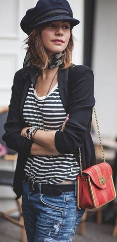 #spring #style #fashionistas #outfitideas | Typical 'Parisienne' Casual Spring Outfit | Les Babioles de Zoé