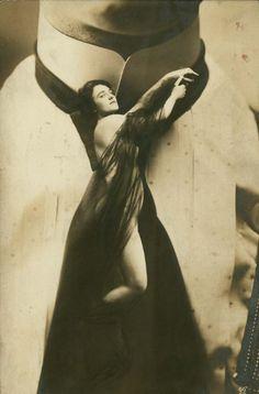 Vintage fantasy postcard