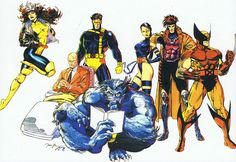 classic team of X Men! Marvel Dc Comics, Marvel Heroes, Captain Marvel, Mcu Marvel, Superman, Batman, Marvel Comic Character, Marvel Characters, X Men