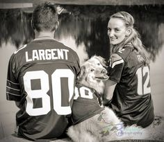 Seattle Seahawks family photo with dog, jersey -3 twig birds photography