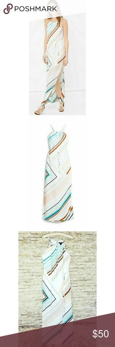 WHBM asymetrical stripe maxi dress 10 BNWT WHBM asymetrical stripe maxi dress 10 BNWT White House Black Market Dresses Maxi