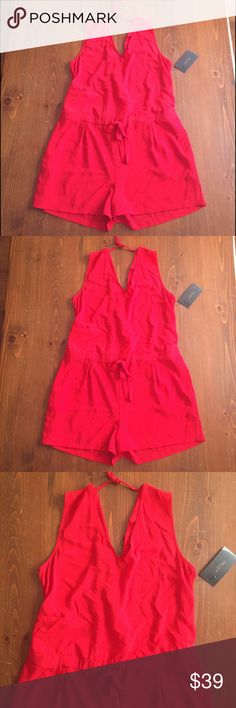 ✨BRAND NEW✨ VIBRANT RED ZARA ROMPER ✨BNWT✨ Be AMAZING in this beautiful vibrant red romper this holiday season. No filter, this is how my camera captured the color...so stunning!!❤️❤️❤️BRAND NEW, NEVER WORN.  BUNDLE and SAVE with my 15% off or feel free to make me an OFFER!! Zara Other