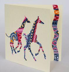 Giraffe card Giraffe greeting card in African by Colourshotcards
