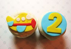 Plane cupcake topper with custom number or by AppleBlossomCupcakes, $16.00