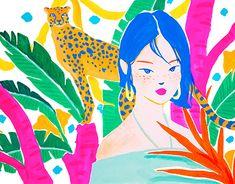 Jungle Safari, Sketchbook Inspiration, Pink Leopard, Marker, Adventure Time, Journals, Pop Art, Exotic, Illustration Art