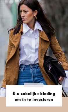 Onze garderobe aanvullen met zakelijke kleding. Het kan nogal een lastig karwei zijn. Want wie bepaalt er nou wat je op bepaalde momenten wel of juist niet kunt dragen?  Maar wist je dat je eigenlijk maar acht items nodig hebt, die je stuk voor stuk met elkaar kunt combineren én die je het hele jaar door kunt dragen?   Office | Werk | Business | Look | Outfit | Fashion | Mode | Items | Kleding | Zakelijke Kleding | 8 | Investeren | Tips | Stijlen | Inspiration | Inspiratie | More On… Office Looks, Coat, Jackets, Outfits, Fashion, Down Jackets, Moda, Sewing Coat, Suits