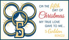 Free 5 Golden Rings eCard - eMail Free Personalized Christmas Cards Online