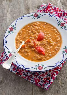 Red lentil soup. (Röd linssoppa.)