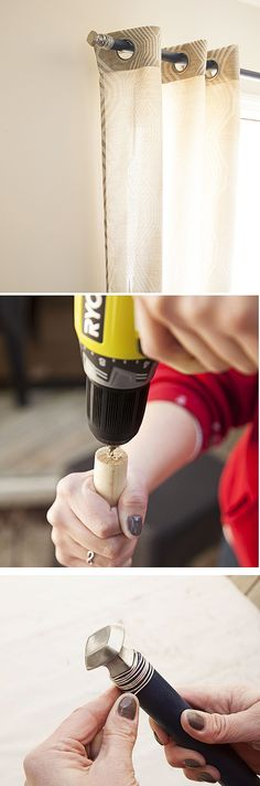 This tutorial will show you how to create a DIY curtain rod using cabinet knobs and a dowel rod. It's a simple project you can complete in just a few hours. See it on The Home Depot Blog.