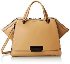 AmazonSmile: ZAC Zac Posen Eartha Unlined Soft Double Top Handle Bag, Camel, One Size: Shoes