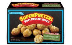 J&J Snack Foods debuts Superpretzel Filled Soft Pretzel Bites - FoodBev Media Food Packaging Design, Soft Pretzels, After School Snacks, Pretzel Bites, Quick Meals, Hunting, Snack Recipes, Frozen, Appetizers