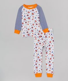 53bfc42523 Orange  amp  Blue Star Pajama Set - Infant