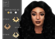 Sims 4 CC's - The Best: Septum Pack by Simpliciaty