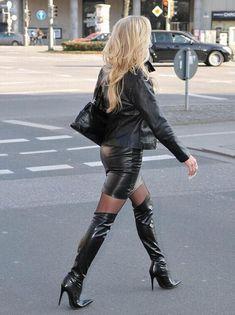 Femmes Cuir Verni Talon Bas Zip Clubwear bout pointu et talon bottier haut Bottes