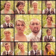 Outdoor Camo Wedding, Fun Wedding Party Collage