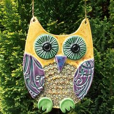 Ceramic owl hanging decoration £10.00