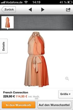 Kleid orangetöne luftig
