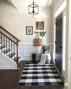 Entryway Stairs, Entryway Decor, Rustic Entryway, Apartment Entryway, Entrance Decor, Cheap Apartment, Wall Decor, Fall Entryway, Modern Entryway