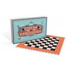 Retro Chess & Checkers - Board Game - Wild & Wolf  #cheap #birthday #mzube #cool #presents #quirky #sale #shopping #gift #gifts   https://www.mzube.co.uk