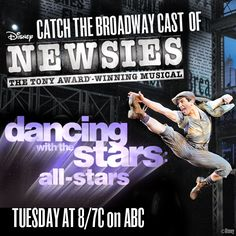 Newsies on Dancing with the Stars this Tuesday, Nov. 13, 2012