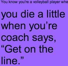 You know your a volleyball player when