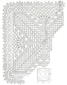 Scheme crochet no. 3135 - Her Crochet Crochet Pillow Cases, Crochet Doily Rug, Crochet Table Runner Pattern, Crochet Bedspread, Crochet Circles, Crochet Motifs, Crochet Tablecloth, Crochet Home, Thread Crochet
