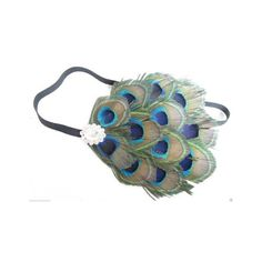 Peacock Feather Headband Headpiece Flapper 1920s Great Gatsby... ($16) ❤ liked on Polyvore featuring beauty products