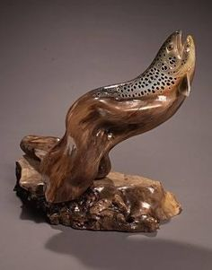 Fly Fishing Wooden Art by Jim Wiley.