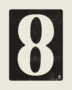 Yes its the eight. Big bold graphic statements, always works...