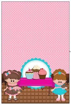 """Partito a tema Kit personalizzato """"Cupcake"""" per la stampa - Semplice Inviti digitale"""