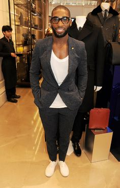 Tinie Tempah wearing Burberry at the Burberry Knightsbridge Menswear store event as part of #LondonCollections today