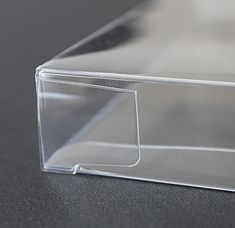 "A6 Clear Plastic Notecard Boxes, Set of 25, 4-7/8"" x 6-5/8"" x 5/8"""