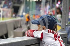 Salzburg Red Bulls - Sturm Graz. Austrian football league. Salzburg young fan at the tribune