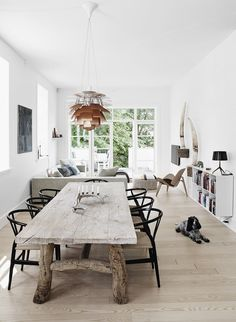 Source: √ Rustic Dining Room Table You Wish To See Sooner Rustic Dining Room Sets, Farmhouse Dining Room Table, Dining Table Design, Dining Area, Esstisch Design, Rustic Furniture, Home And Living, Interior Design, Home Decor