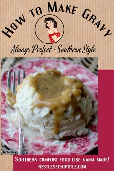 Real Southern gravy is rich creamy and an important part of the Southern food pyramid. It should be smooth as silk and rich as a Houston oil tycoon. This basic recipe will teach you to make ANY kind of gravy including cream chicken brown and even vegan! White Chicken Gravy Recipe, Basic Gravy Recipe, Homemade Gravy Recipe, Cream Chicken, Southern Recipes, Southern Food, Southern Comfort, How To Make Gravy, Do It Yourself Inspiration