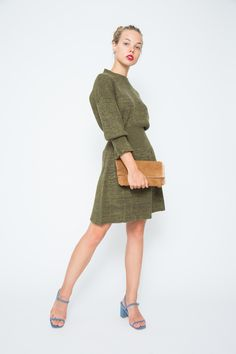 Military Peplum Dress | Sonia by Sonia Rykiel Winter Dresses, Summer Dresses, Nice Dresses, Short Dresses, Solid And Striped, Casual Outfits, Fashion Outfits, Sonia Rykiel, Complete Outfits