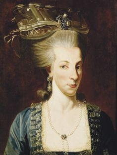 Queen Maria Carolina of Naples-Two Sicilies, née Archduchess of Austria. Marie Antoinette's rather unfortunate looking sister.