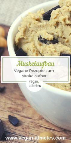 Recipes for Building Muscle - Also Ideal as Freeletics Nutrition (Update - Vegetarische und vegane Rezepte und Tipps - Healthy Dessert Recipes, Health Desserts, Vegan Recipes, Vegan Protein, Protein Snacks, Freeletics Workout, Recipe Fo, Vegan Muscle, Smoothie Recipes