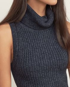 Womens Sleeveless Turtleneck Sweater | Womens Tops | Abercrombie.com