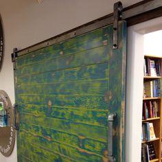 Barn door inside Morris Book Shop