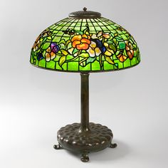 """Pansy"" Tiffany Lamp Table Lamps Tiffany Lamps Antique Tiffany Lamps Tiffany Lamps Art Nouveau"