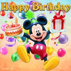 Disney Happy Birthday Images, Disney Birthday Wishes, Happy Birthday Mickey Mouse, Happy Birthday Disney, Happy Birthday Minions, Happy Birthday Wishes Cards, Birthday Cartoon, Happy Birthday Flower, Happy Birthday Pictures