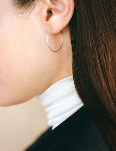 15 Thin Hoop Earrings For The Minimalist