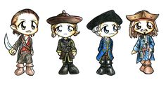 Pirates of the Caribbean Chibi by ~Eirieniel on deviantART   no!!! I'm allergic to adorableness!!!!