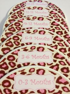 6 Custom Baby Closet Dividers - Leopard Pink Baby Shower Gift Nursery - Baby Closet Organizers - Infant Stocking Stuffers via Etsy