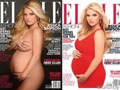 Jessica Simpson's two very different Elle covers.